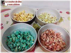 LA COCINA DE BEA Y SUS CHICOS: Palomitas de maíz de colores