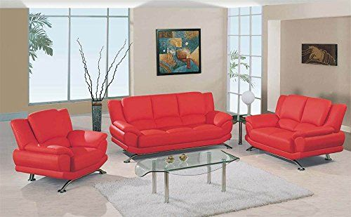 Special Offers - 3 Pc Upholstered Bonded Leather Living Room Set w Chrome Base - In stock & Free Shipping. You can save more money! Check It (May 18 2016 at 10:09AM) >> http://counterstoolsusa.net/3-pc-upholstered-bonded-leather-living-room-set-w-chrome-base/