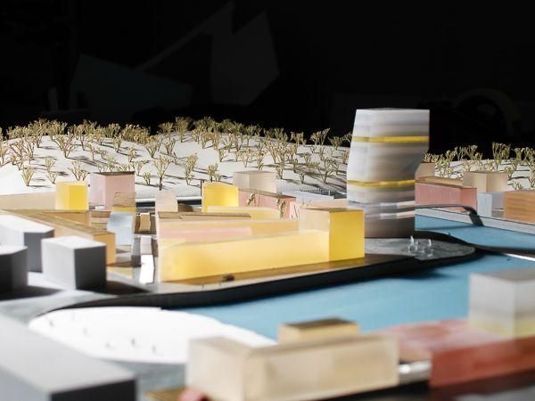 Scale 1/750 #architecturemodel #architecture #maquette #rotterdam #modelmaking #KCAP