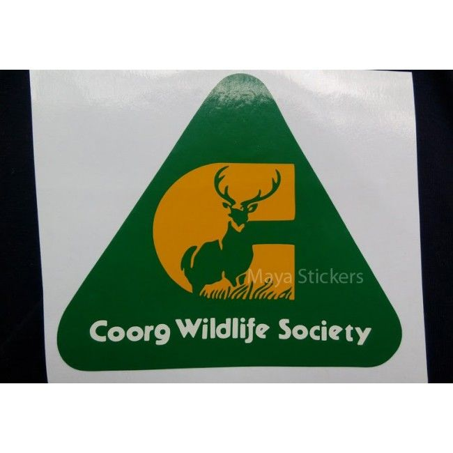 Coorg wildlife society decal for cars