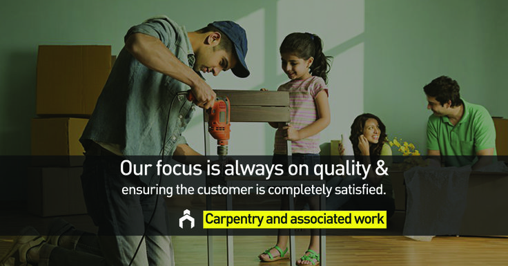 Our professionals will give a finishing touch to your expensive furniture and make it look more graceful . #LoveYourHome #Carpentry #Services