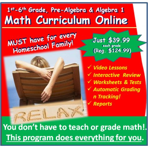 1-Year Subscription to Online Math Curriculum for 1st-9th Grade Homeschoolers