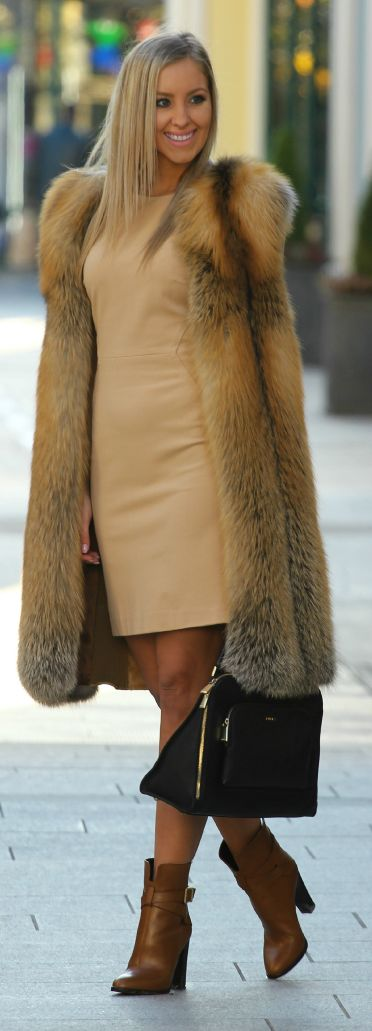 Camel Faux Fur Coat by Styleandblog.com