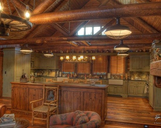 192 best log cabin decor images on pinterest home and log cabin kitchens