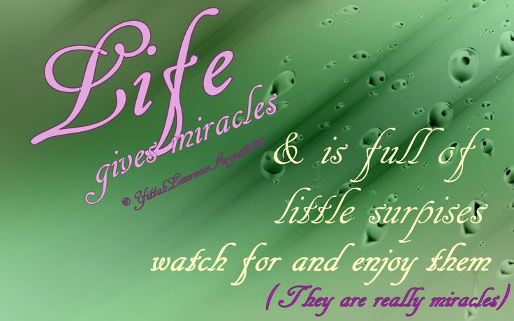♥ Keep your eyes open for today's #Miracles