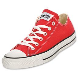 Converse Chuck Taylor Low Top Mens Casual Shoe| FinishLine.com | Red