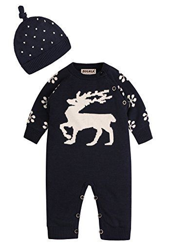 Product review for ZOEREA 2pcs Baby Sweater+Hat Reindeer Christmas Infant Romper Suit 0-22 Months.  ZOEREA 2pcs Baby Sweater+Hat Reindeer Christmas Infant Romper Suit 0-22 Months It is made of high quality materials,Soft hand feeling, no any harm to your baby's skin. Stylish and fashion design make your baby more attractive. Great for casual, Daily, party or photo shot, also a great idea...