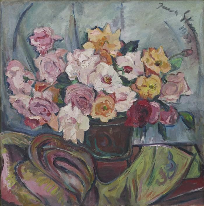 Irma Stern: A still life with roses