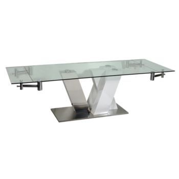 155 best dining tables images on pinterest dining tables - Table blanc laquee ...