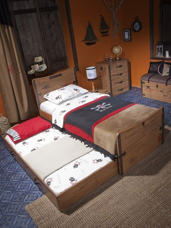 Bedroom, Eclectic Kids Bedrom Pirate Design Ideas With Wooden Furniture Set  Decoration Ideas: Amazing