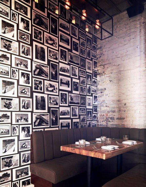 fotos Wandgestaltung mit Farbe wände gestalten esstisch sofa