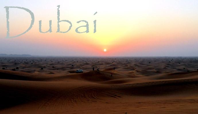 Dubai woestijn met zonsondergang.. #travel