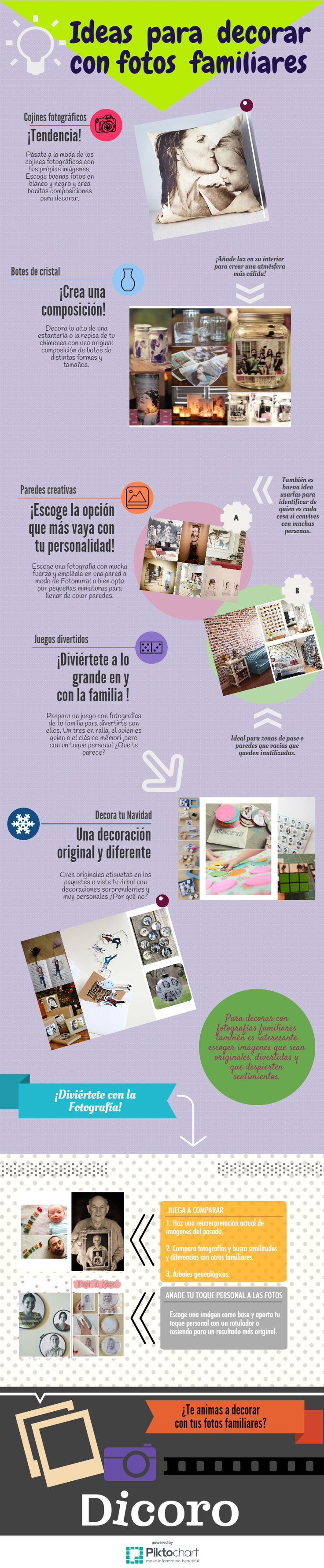 brillantes ideas para decorar con fotos familiares