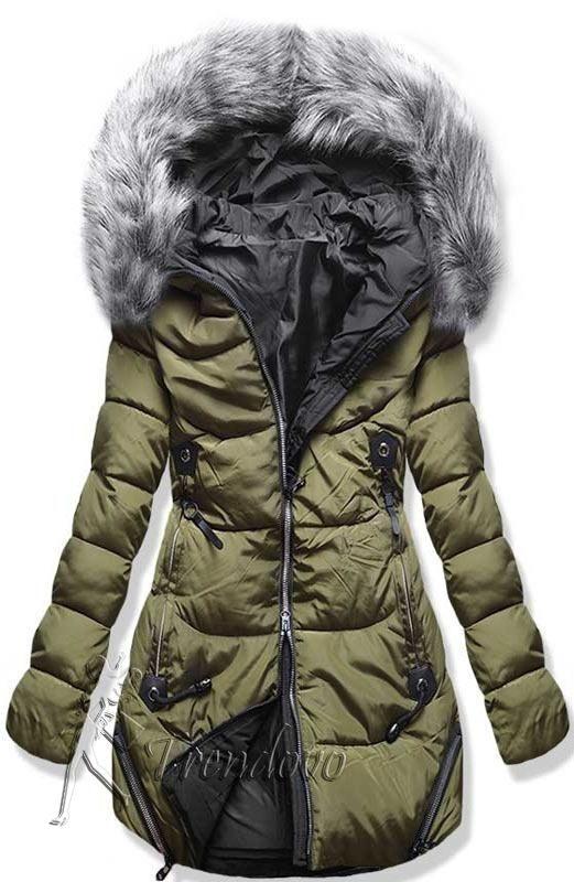 Zelená zimní bunda