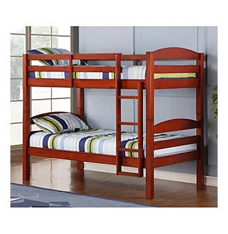 W. Designs Cherry Twin Solid Wood Bunk Bed