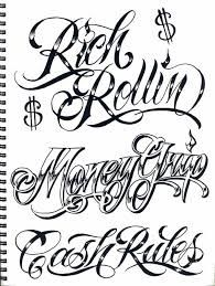 gangster letter tattoo