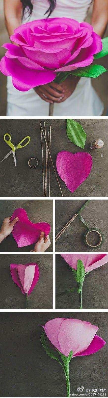DIY  paper-cut   big  roses ~
