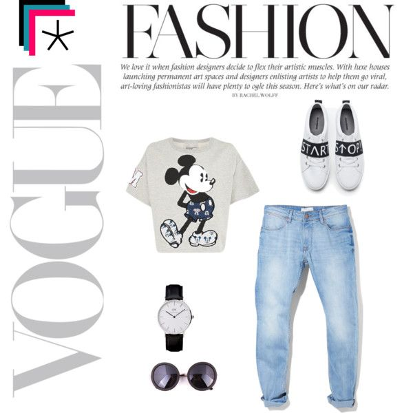 MickeyMouse by fromnorah on Polyvore featuring Paul & Joe Sister, MANGO and Zara
