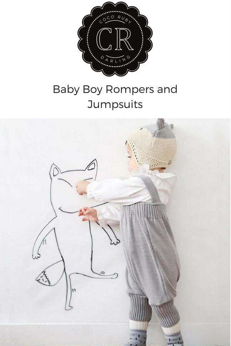 Knitted Boy Jumpsuit – Coco Ruby Darling.Such a darling knitted romper