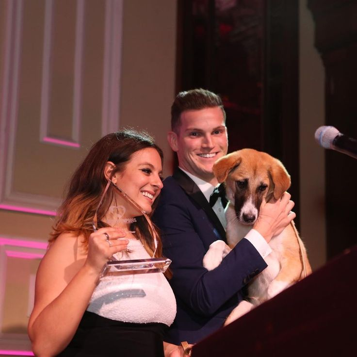 Our Dog of the Year Award at our Gala went to Honey! Honey was on the verge of being killed and eaten but fortunately we were able to rescue this precious dog from the Yulin Dog Meat Festival in China. She  is now living a wonderful life with her fur-ever family who love absolutely adore her. Thank you to everyone who has donated to The Vanderpump Dog Foundation so moments like this are possible! 💕🐶 #VanderpumpDogsGala2017 #VanderpumpDogs
