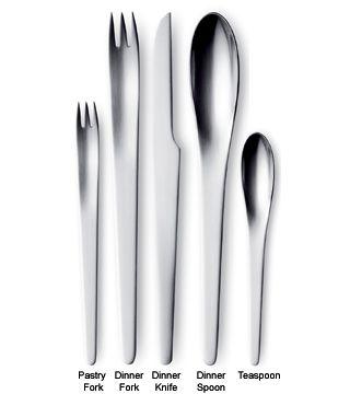 Perfect Arne Jacobsen Flatware.