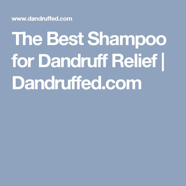 The Best Shampoo for Dandruff Relief | Dandruffed.com