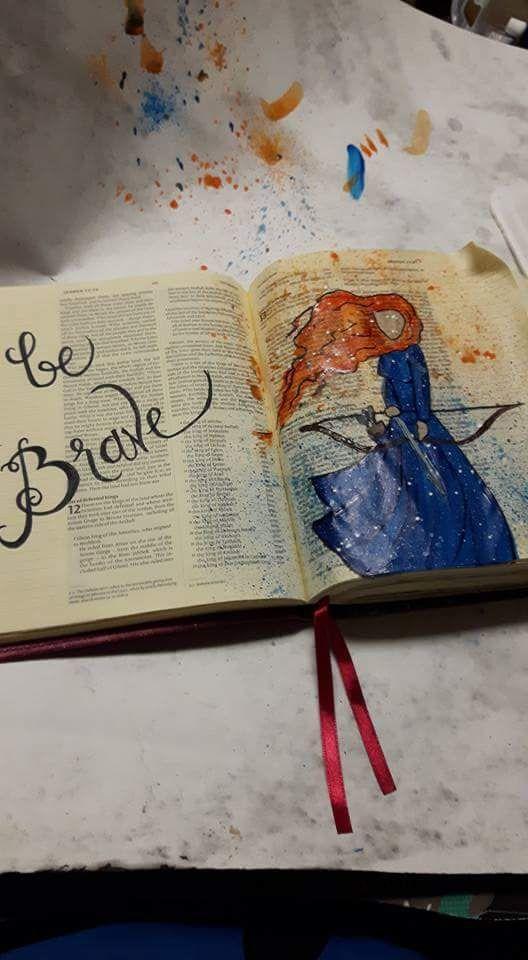 Merida from brave. #biblejounaling #mixmedia #disney