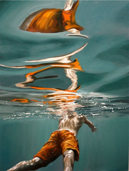 Eric Zener - Paintings - Water. i will buy it n put it in our room, my dear swimmer.....