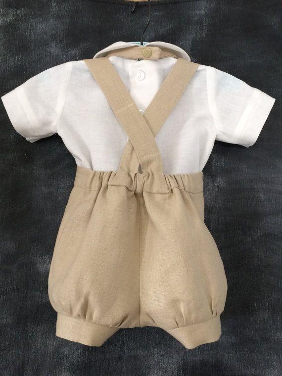 33f31300071 ITEM DESCRIPTION  Boys linen baptism suit. Beautiful baby and or todder Linen  Suit