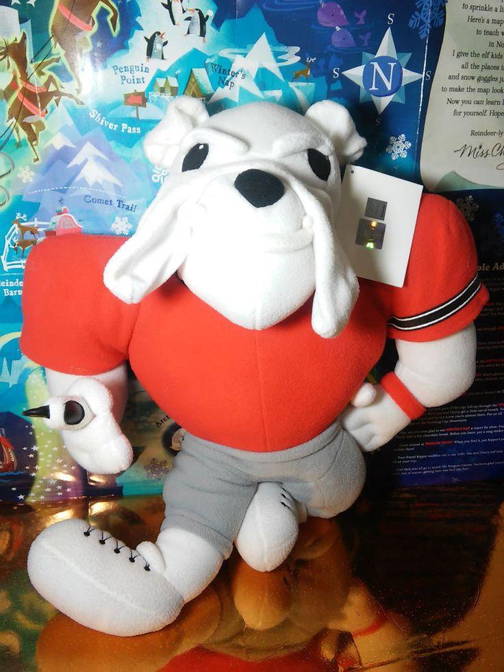 University of Georgia Bulldogs UGA Football Red White Bulldog Plush PIllow w/tag #GeorgiaBulldogs #universityofgeorgia #bodypillow #plush #uga #godawgs