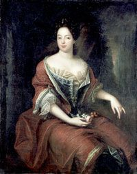 Sophia Charlotte of Hanover (30 October 1668 – 1 February 1705) was the first Queen consort in Prussia as wife of King Frederick I. She was the only daughter of Elector Ernest Augustus of Brunswick-Lüneburg and his wife Sophia of the Palatinate. Her eldest brother George Louis succeeded to the British throne in 1714 as King George I.