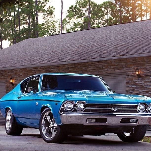 Blue Chevy Chevelle SS ... I definitely wanna see one of these beauties in our garage someday!