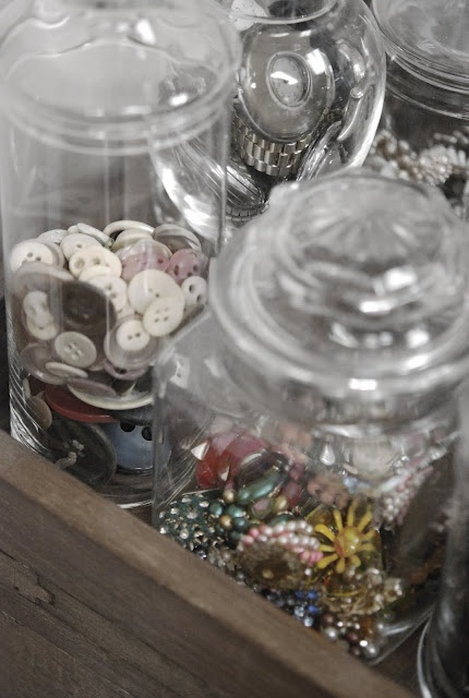 Sure, I'll take it.: Vintage Jars, Collection Jars, Buttons Crafts, Glasses Jars, Buttons Storage, Sewing Rooms, Stores Buttons, Sewing Crafts Rooms, Jars Jars