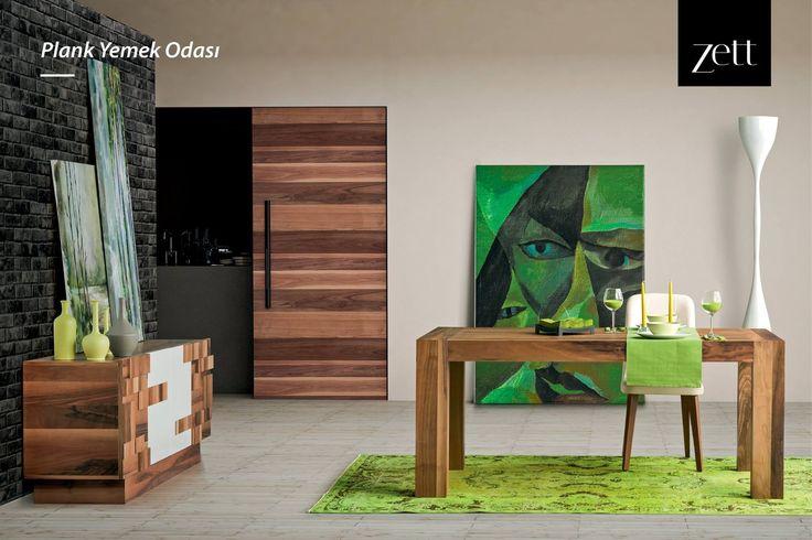 Açılabilir masası, üç boyutlu kapak tasarımı ve kolay temizlenebilir sandalyeleri ile Plank Yemek Odası.  #zettdekor #mobilya #furniture #ahşap #wooden #yatakodasi #bedroom #yemekodasi #diningroom #ünite #tvwallunits #yatak #bed #gardrop #wardrobe #masa #table #sandalye #chair #konsol #console #dekor #decor #dekorasyon #decoration #koltuk #armchair #kanepe #sofa #evdekorasyonu #homedecoration #homesweethome #içmimar #icmimar #evim #home #inegöl #bursa #turkey