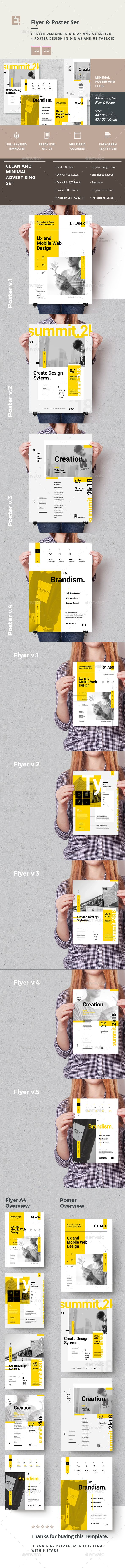 #Advertising Poster and Flyer Set