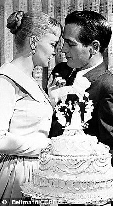 Hollywood stars Joanne Woodward and Newman in Las Vegas after their marriage in 1958