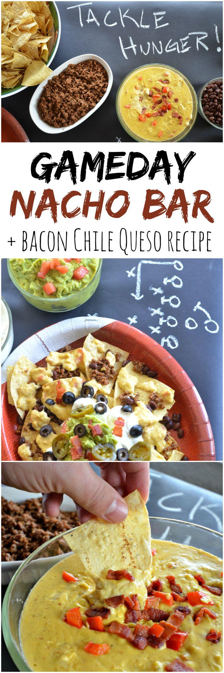 Super Bowl Party: Nacho Bar & Bacon Chile Queso Recipe