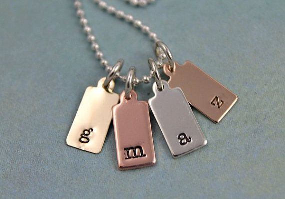 Custom Necklace Hand Stamped Necklace by TinyTokensDesigns
