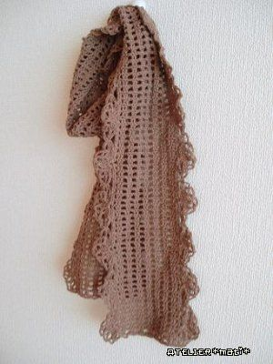 Free Crochet Edging Patterns For Scarves : Free crochet pattern for Lacy Edging Scarf edging ...
