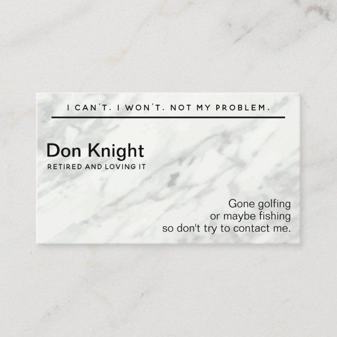 Funny Retired Gag Gift Business Card Zazzle Com In 2021 Retirement Humor Funny Retirement Gifts Gag Gifts