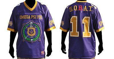 Omega Psi Phi Football Jersey Purple - M, LG, XL, 5XL