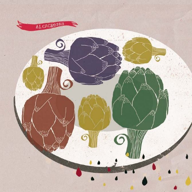"""Ilustración del libro """"Cocina casera de Castellón"""" por Irene Pérez Ramos http://www.verkami.com/projects/6328-cocina-casera-de-castellon"""