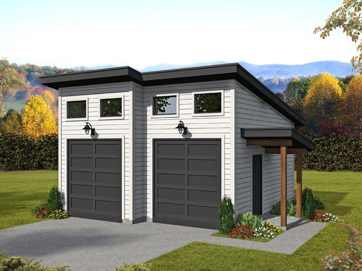 062g 0221 Modern 2 Car Garage Plan Garage Plan Contemporary Style Homes Floor Plan Design