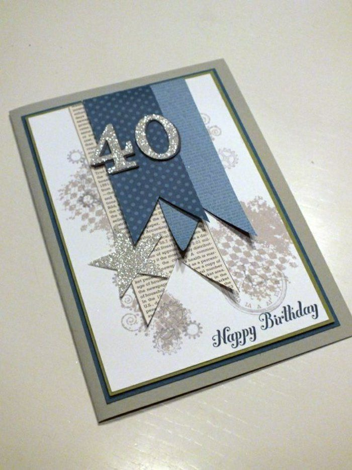 décoration carte d'anniversaire, carte anniversaire parent, carte happy birthday