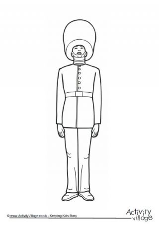 Queen's Guard Colouring Page 2