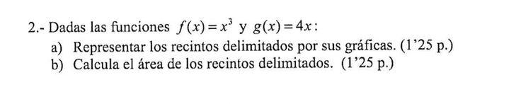 Ejercicio 2B 2009-2010 Setiembre Fase Específica. Matemática, pau de Canarias, matemática 2, integrales