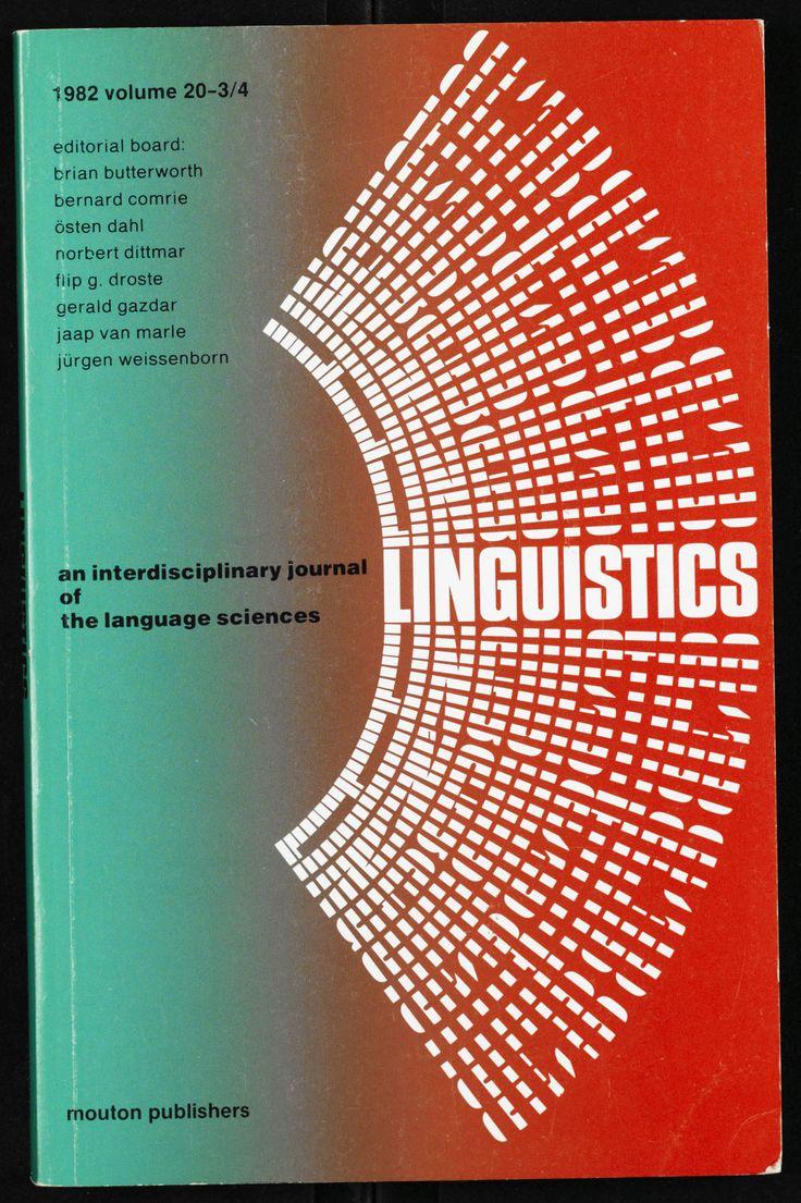Poster design book - Garadinervi Linguistics Mouton Publishers Cover Design By Jurriaan Schrofer Poster Vintage