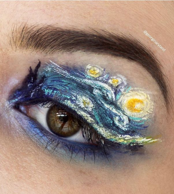 There's something about keeping your hand super-steady when trying to perfect your winged liner that's hard AF. And then there's award-winning makeup artist Georgina Ryland's teeny tiny eye art, which utterly puts my skills to shame.