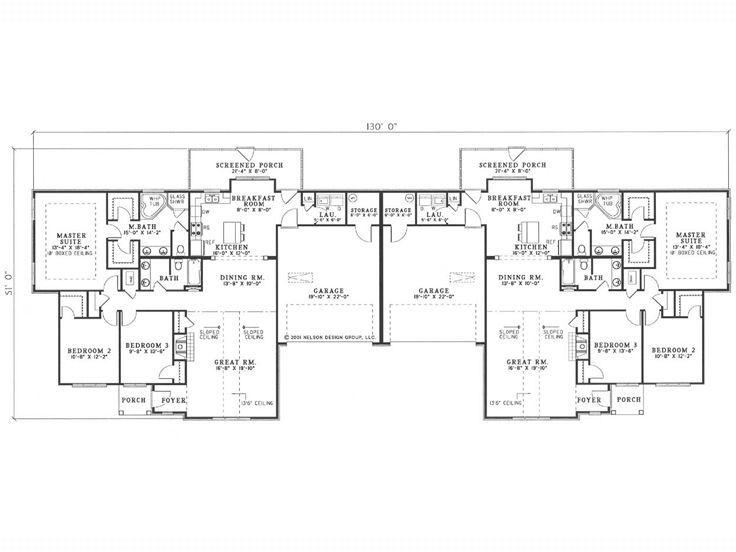 32 best duplex plans images on pinterest duplex design