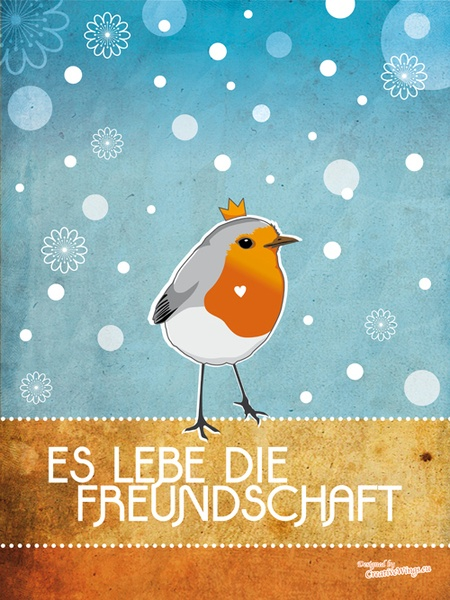 Poster 'Es lebe die Freundschaft' // 'Let friendship live' by HimmelHase via DaWanda.com